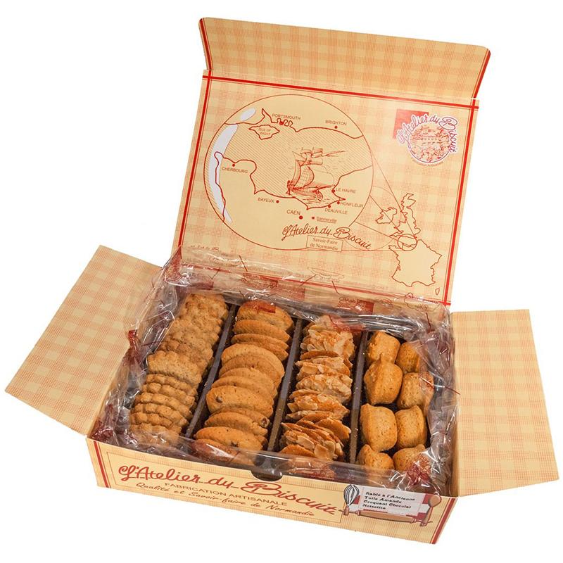 Boîte d'assortiment de biscuits secs
