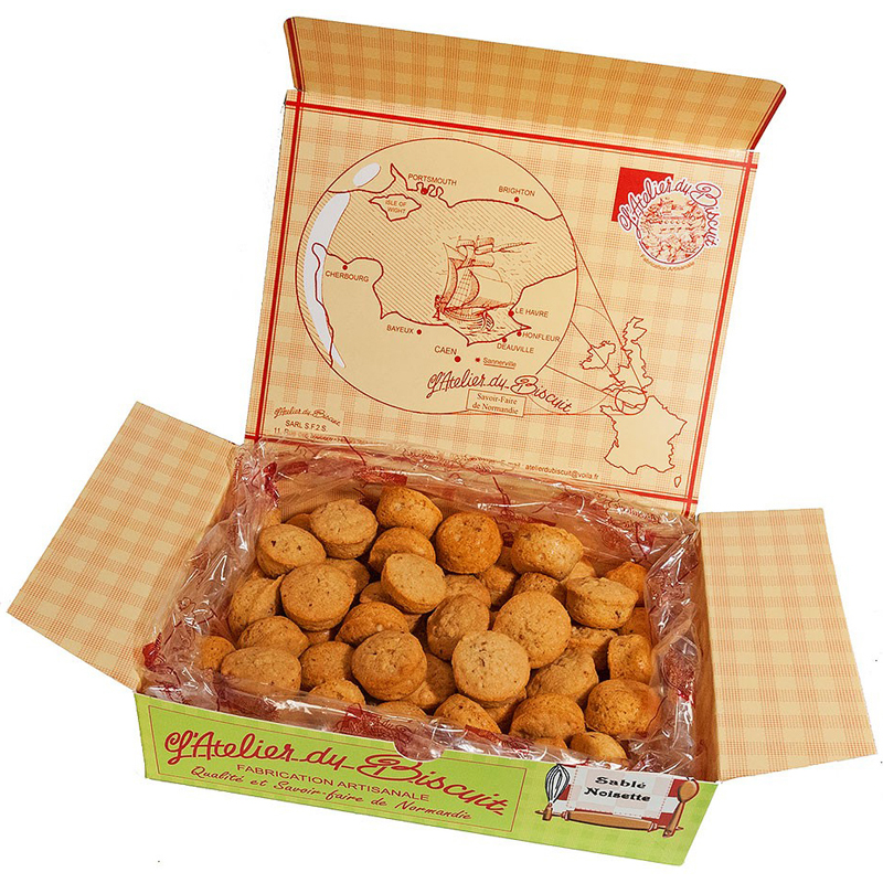 Boîte de biscuit sablé Noisettin