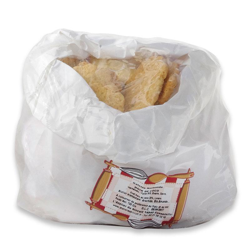 pochon de galettes normandes noix de coco