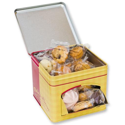 Boîte distributrice de biscuits
