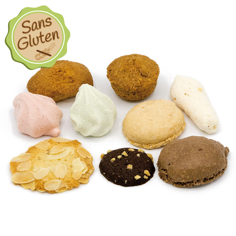 Assortiment gourmand de biscuits sans gluten