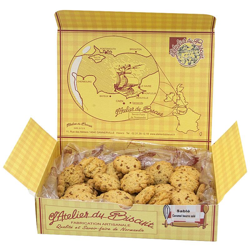 Boîte de sablé caramel beurre salé de normandie